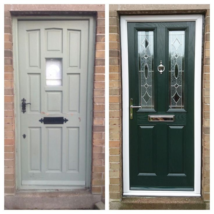 Green Composite Door with Yale Locks and Fab&Fix furniture.