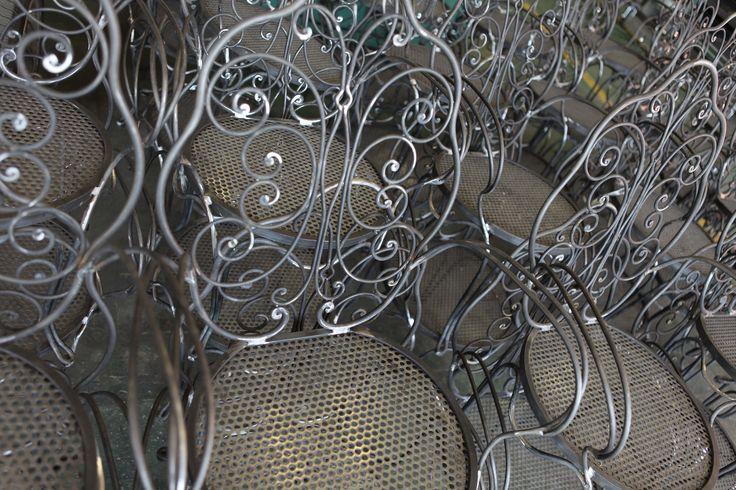 Sedie in ferro battuto fatte a mano San Patrignano