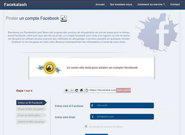 Pirater un compte facebook sans logiciel comment trouver mot de passe hacker ?