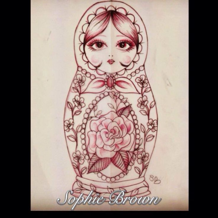 Nesting Doll Tattoo Flash 1000  Ideas About Russian On