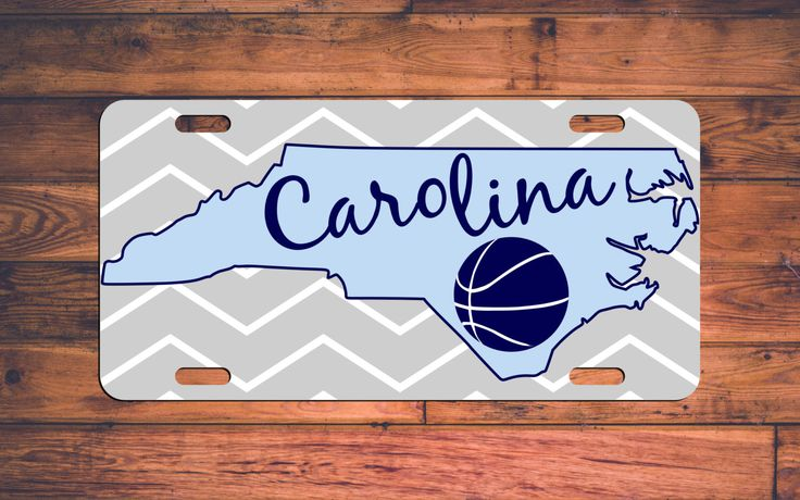 UNC Tarheels Basketball Custom License Plate North Carolina NC Custom Car Tag Customized Personalized Gifts - Customize your own! by TheMonogramStand on Etsy