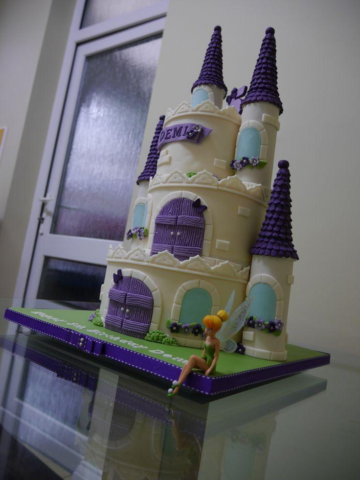 Princess Castle Cake #cake #tinkerbell #princess #castle