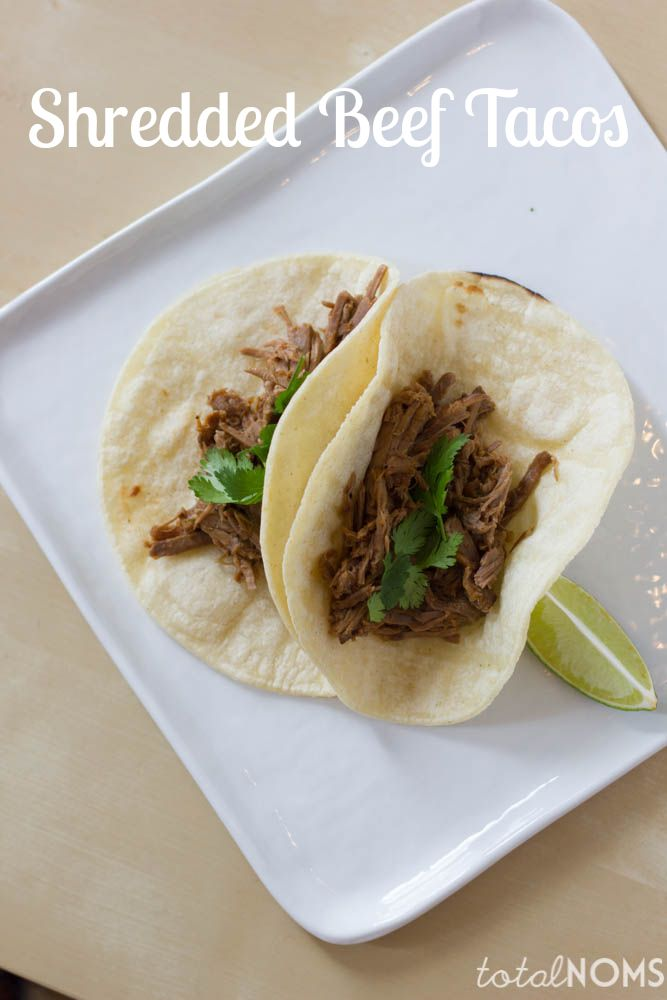 Shredded beef tacos, Shredded beef and Beef on Pinterest