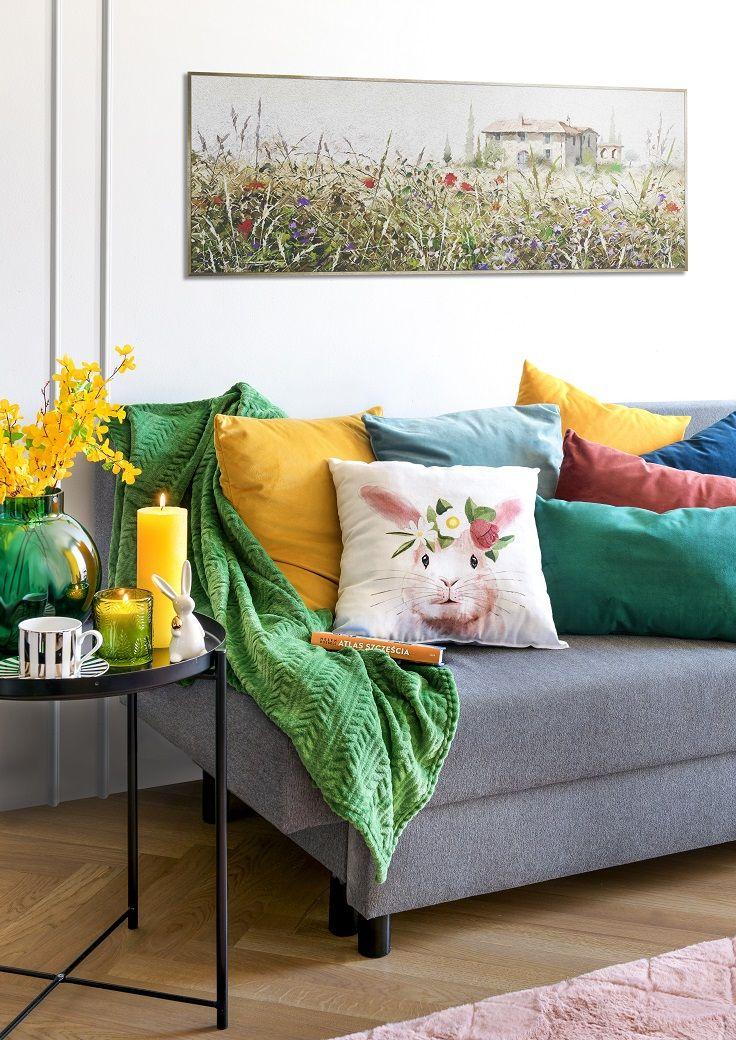 Kolorowy Kacik Pillows Throw Pillows Bed