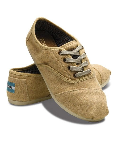 toms camel wool cordones lace wool and toms