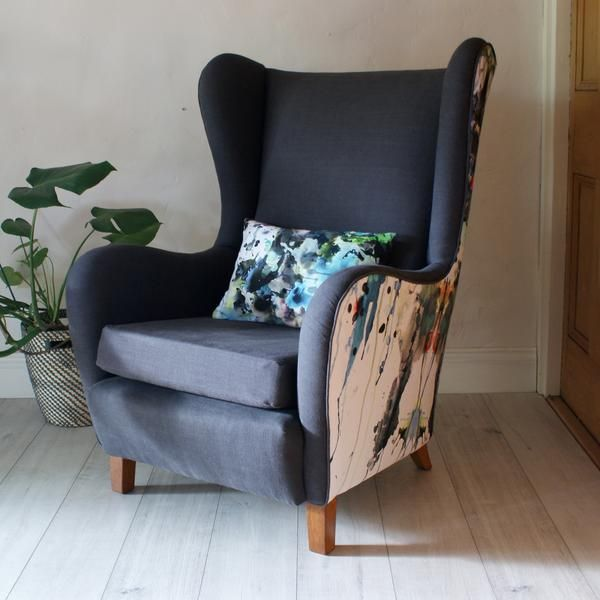 1950s Lounge Armchairs Re Upholstered In Multicolored: Best 25+ Wingback Armchair Ideas On Pinterest