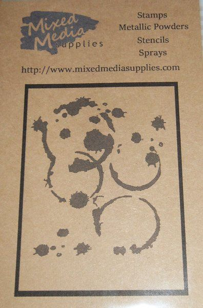 Coffee Cup Stains and Paint Splatter Stencil | Mixed Media Supplies