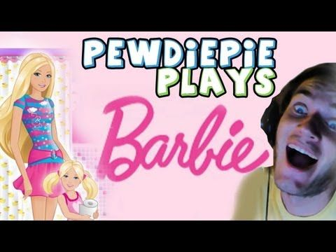 PLAY SCARY GAMES THEY SAID! - Barbie Game OMG!!! Pewdiepie is playing Barbie games!! : DLOL