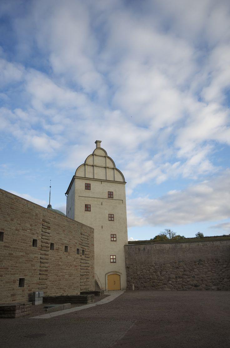 Vadstena Castle Library Tower. Vadstena Castle is a former Royal Castle in Vadstena, the province of Östergötland, Sweden.