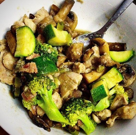 Quick Chicken Mushroom Stew