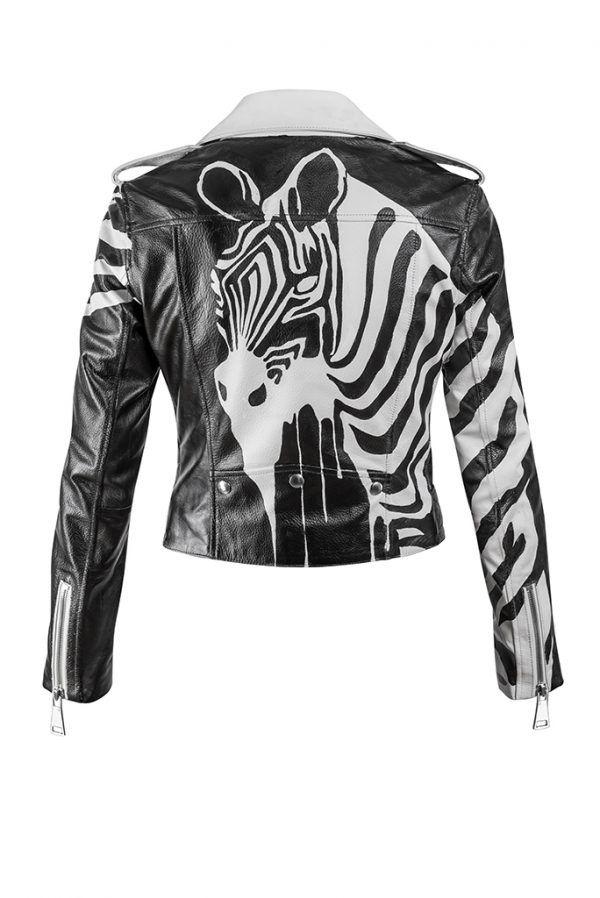 Zebra Leather Jacket