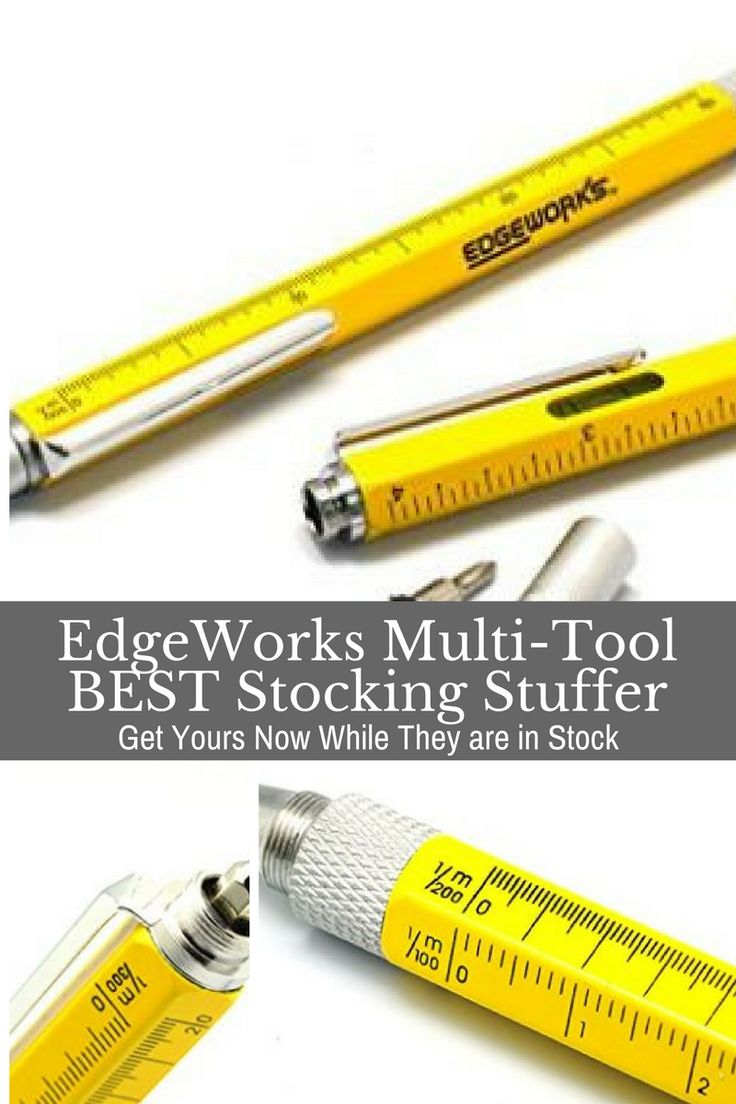 EdgeWorks is an awesome multi-function stylus, level, ruler, screwdriver. Great stocking stuffer for guys.