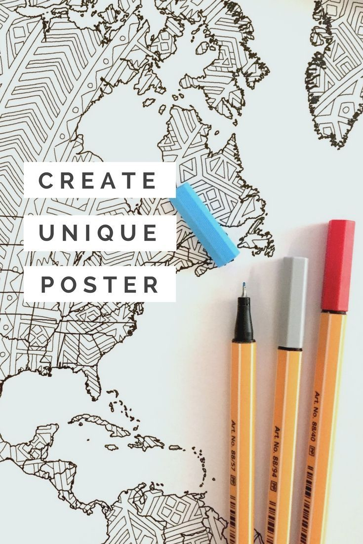 Create your own unique wall art with these coloring posters by Anna Grunduls Design! Grab your favorite colored pencils or pens and you can get started - a stunning effect is guaranteed. This might just be a great gift idea for the crafty people in your life ;)
