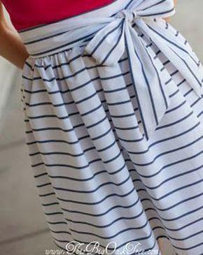 Gratis Damen Schnittmuster – High-Waisted Sash Skirt