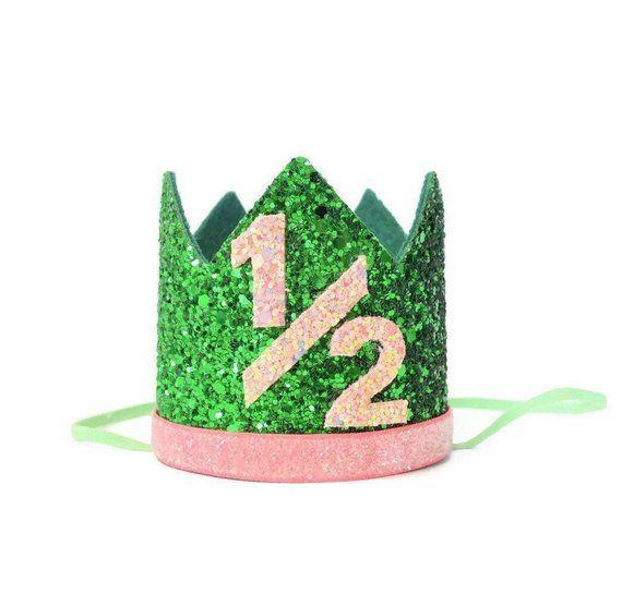 Watermelon Half Birthday Crown