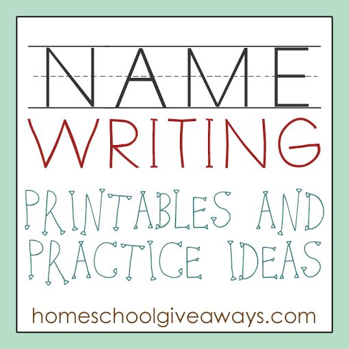 FREE Name Writing Printables and Practice Ideas | Free Homeschool Deals ©