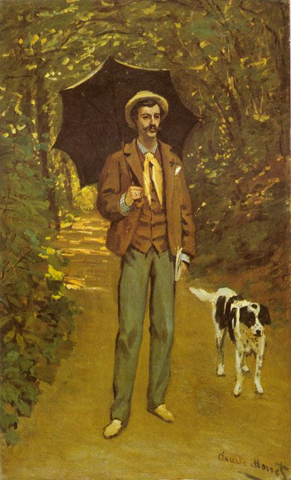 """""""The man with a parasol"""" by Claude Monet, 1868"""
