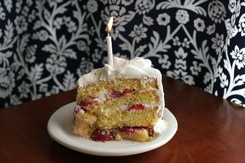 Strawberry Orange Cream Cake.  This is the ultimate summer birthday cake.  So yummy!   (Savour Fare)