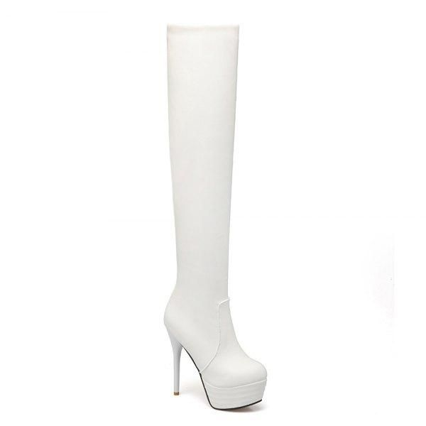 Chic Boots Side Zipper Ultra High Heel Simple Design Vogue Shoes