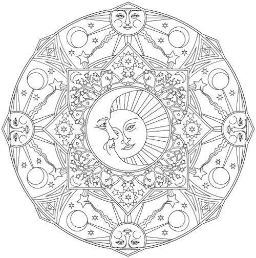 Creative Haven Celestial Mandalas Coloring Book Mandala Coloring Books Mandala Coloring Pages Mandala Coloring