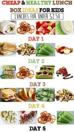 Cheap & Healthy Lunch Box Ideas for Kids - Under $2.50 Per Day - Week 1