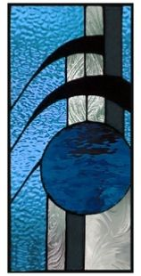 abstract stained glass window panel