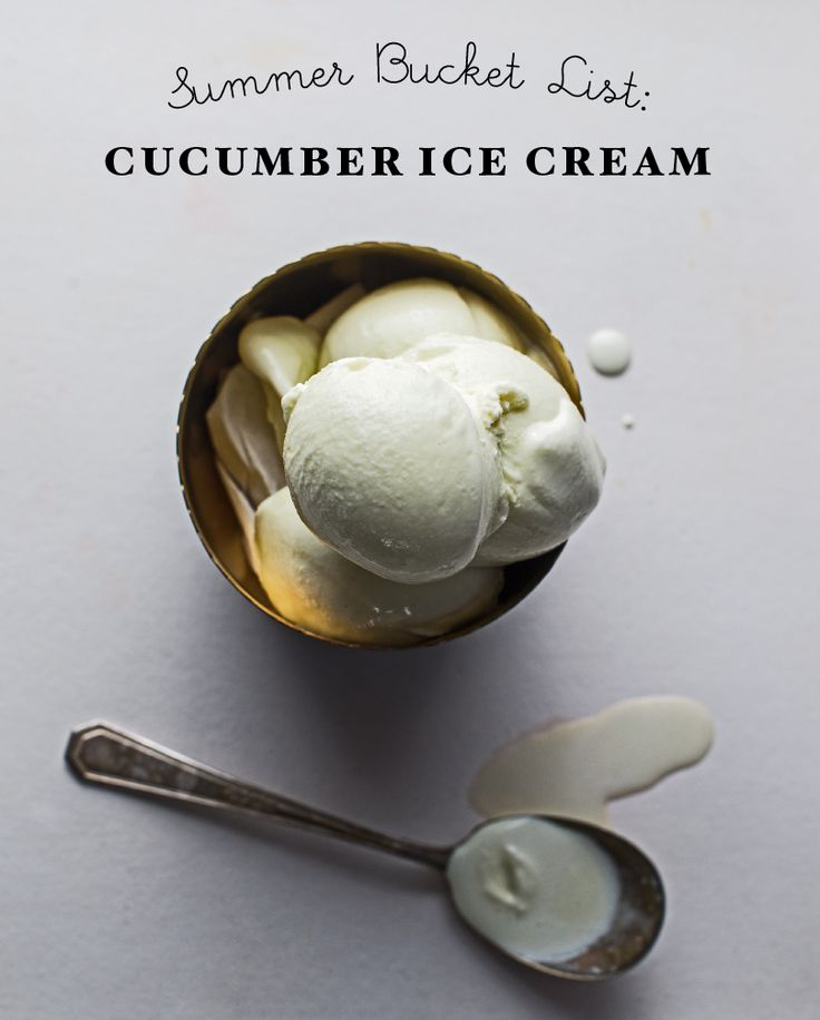 Creamy Cucumber Ice Cream. I cut the recipe in half and used 1/4 tsp salt.