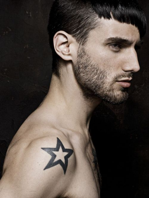 Star Shoulder Tattoos For Men