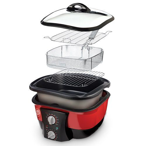 JML Go Chef 8 in 1 Non-Stick Multi Cooker - Bake, Fry, Slow Cook, Steam, Boil, Roast and More: Amazon.co.uk: Kitchen & Home