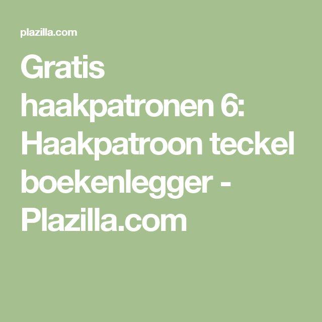 Gratis haakpatronen 6: Haakpatroon teckel boekenlegger - Plazilla.com
