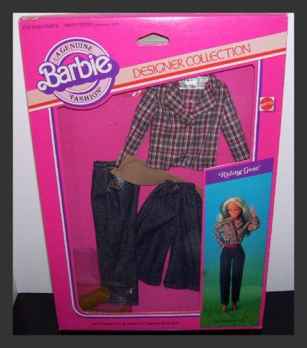 Simple  Designer Collection Barbie Doll Horse Riding Gear Clothing Set