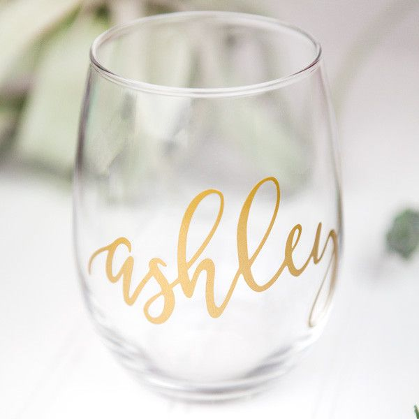 06eee247d9a Bridesmaid Gift Box No. 3 | painted glasses and wine bottle fun | Bridesmaid  wine glasses, Personalized wine, Wine glass