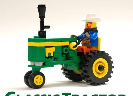 No farm would be complete without a tractor, especially a John Deere tractor! The green and yellow branding of the John Deere tractors is an iconic symbol of farming an...