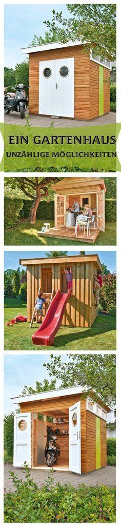 """Ein Gartenhaus-Bausatz kannst du selbst aufbauen. Der Vorteil ist, dass du es so nutzen kannst, wie du willst: Ob als Fahrradschuppen, für deinen Gartengeräte oder als Spielhaus für die Kinder. Den Gartenhaus-""""Rohling"""" kannst du deinen Bedürfnissen anpassen."""