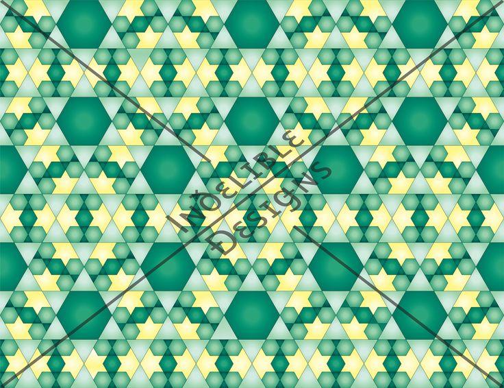 ID#06CE — Iɴðɛʟɪʙʟɛ Ðɛsɪǥɴs #digitalprint #printdesign #textiledesign #textileprint #layer #diamond #hexagon #triangle #line #linear #moroccan #shape #green #white #mint #yellow #tile #tileprint #star