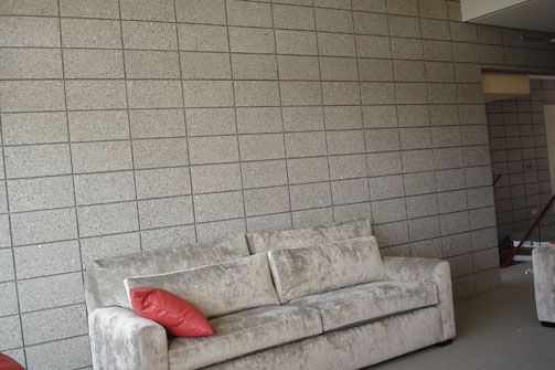 Interior Stack Bonded Walls Honed Concrete Block Wall