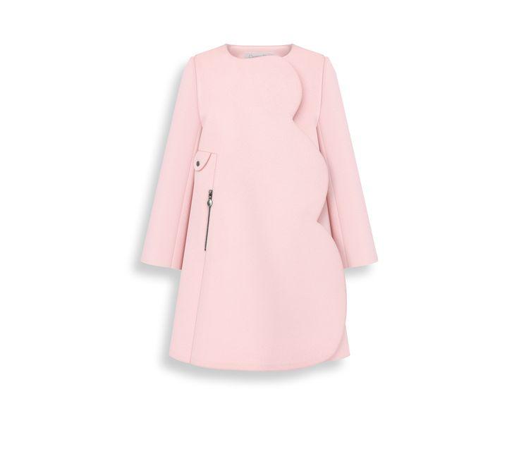 Manteau en laine cachemire rose pétale -  Dior