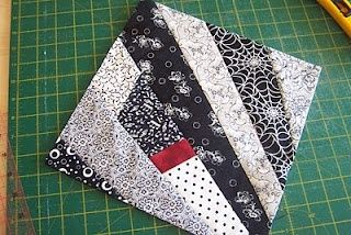 Super Easy Quilt-As-You-Go Stash Buster Blocks.