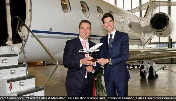 Bombardier Business Aircraft announced the addition of a new Challenger 350 aircraft to TAG Aviation Europe's expanding charter fleet.