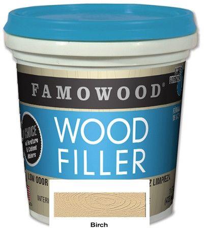 Famowood© Latex Wood Filler 24 oz Birch Color Case/12 #40022106C