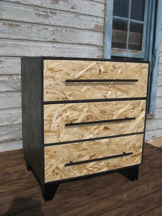 Stained OSB furniture (zen monk modular osb dresser by modosb)