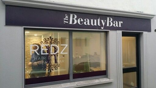 Shop front ( 3D letters & window graphics) for REDZ Hair Design done & dusted☆