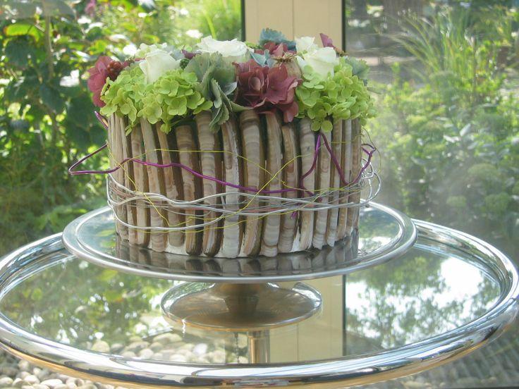taartje met schelpen