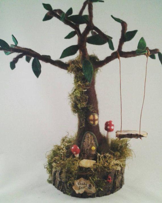Needle Felted Fairy Treehouse Fairy House  Fairy by FeltbyLisa