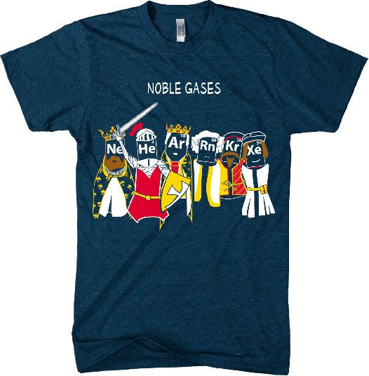 funny+science+t-shirts | Noble Gases T Shirt Funny Science Shirt S-3XL on Luulla