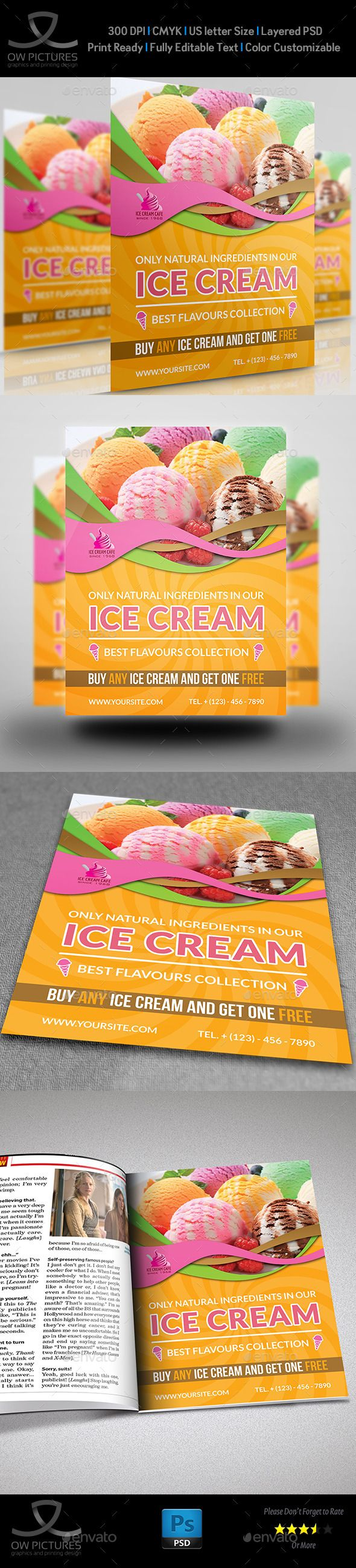 17 best images about flyers business flyer ice cream flyer template vol 3