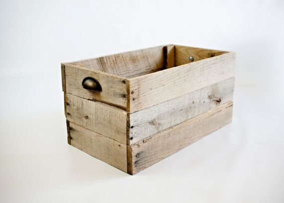 Wooden Box Made from Pallet Wood  10 x 20 x 12 $35