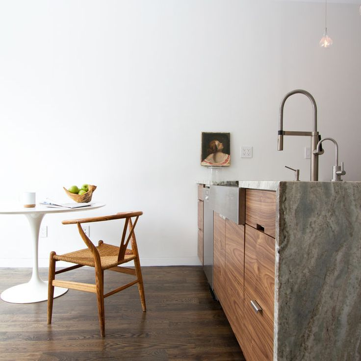 Brooklyn row house kitchen with Consentino countertops by Office of Architecture.