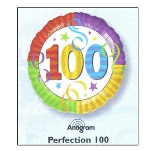 """Perfection 100 Mylar Balloon 18"""""""