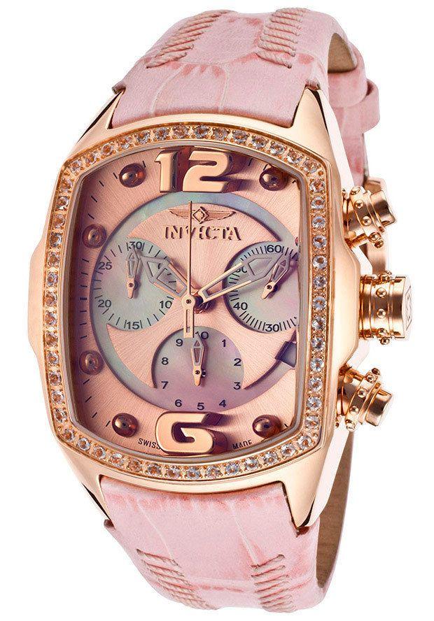 DREAM WATCH!~  Invicta Womens Lupah Revolution Swiss Morganite Bezel Rose Gold Pink Watch 14479 #Invicta #Fashion